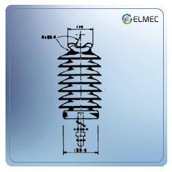 Aislador tipo poste vertical para 45KV
